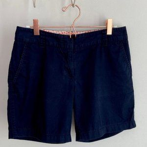 J. Crew Womens Navy Blue Chino Broken-In Shorts